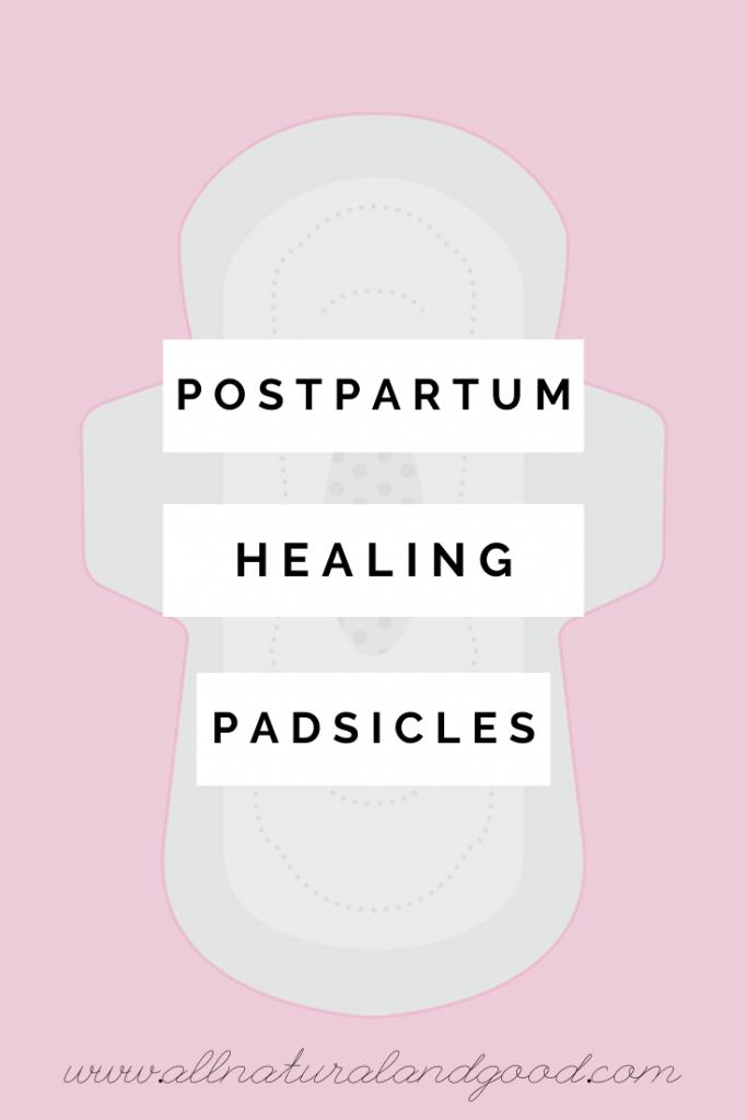 Postpartum Healing Padsicles