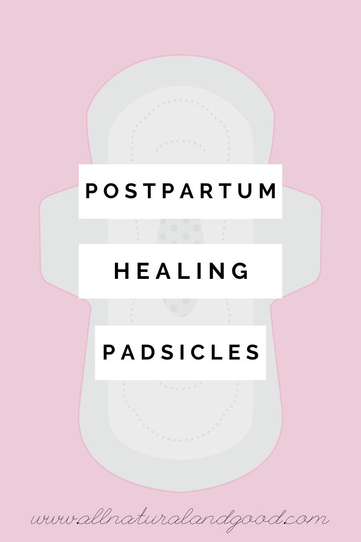 Postpartum healing pads or \