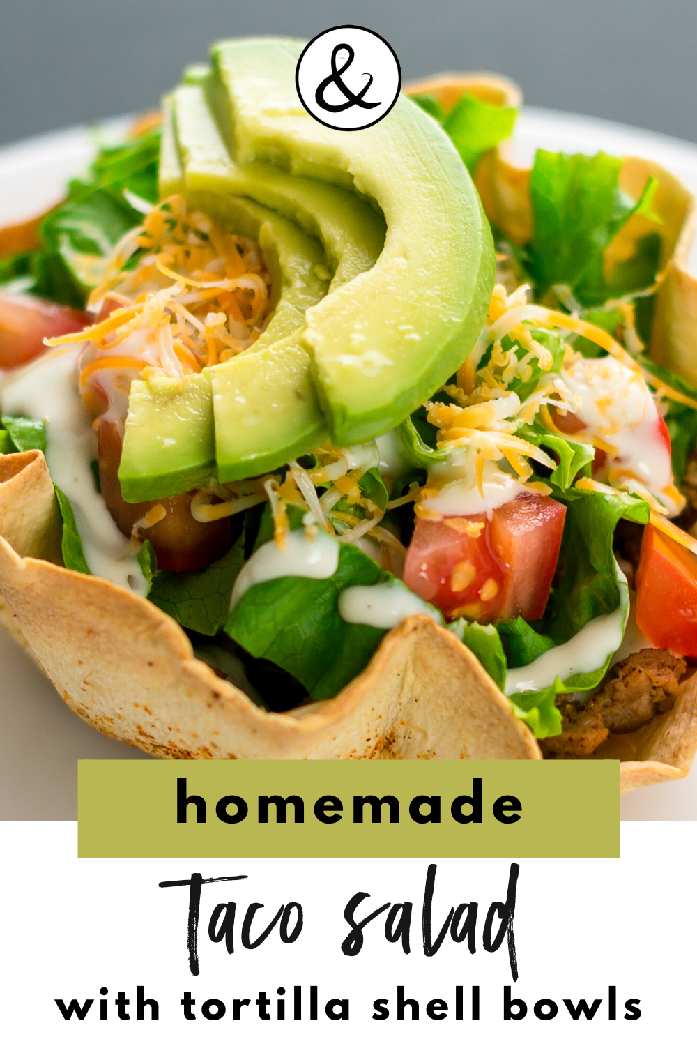 Homemade Taco Salad with Tortilla Shell Bowls