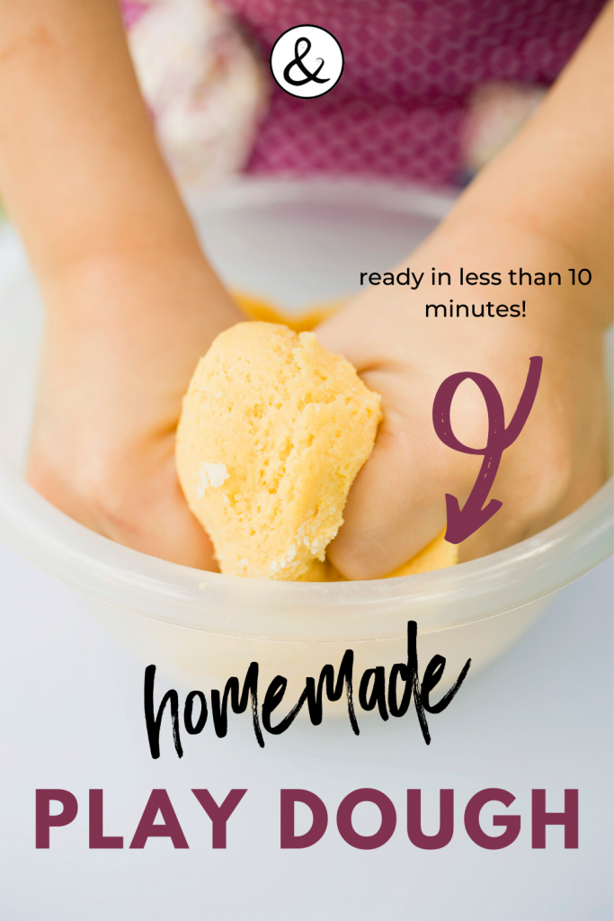 Homemade Play Dough in 10 Minutes or Less