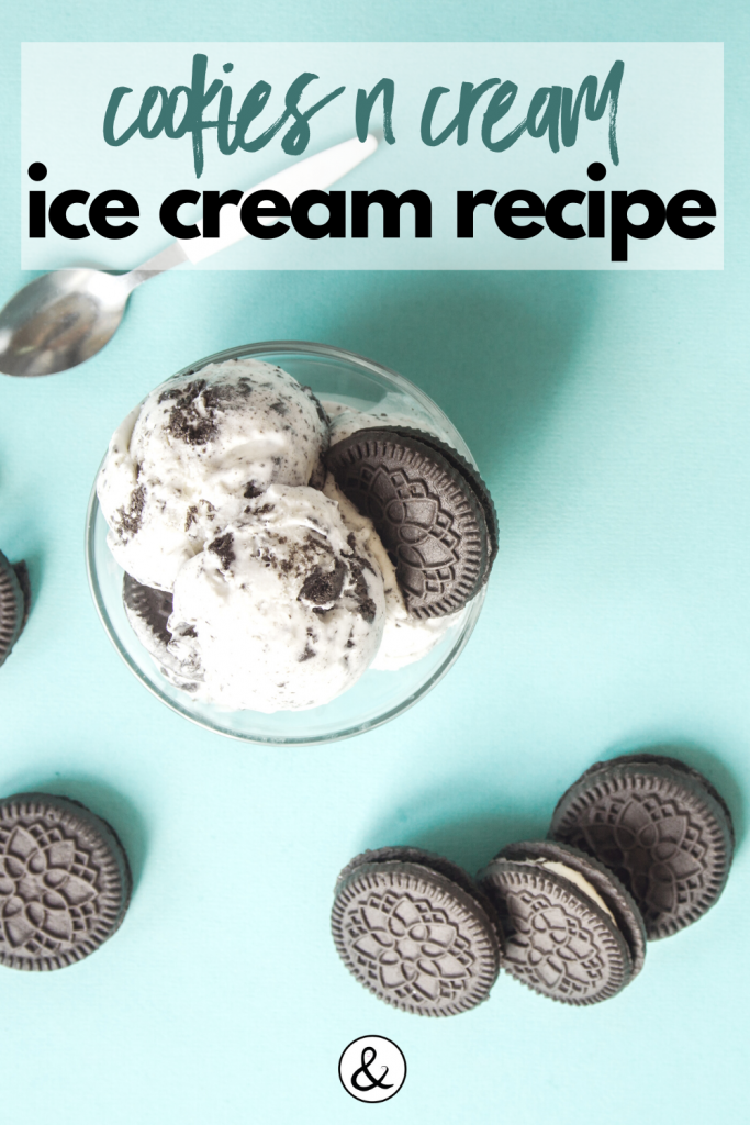 Homemade Cookies n Cream Ice Cream