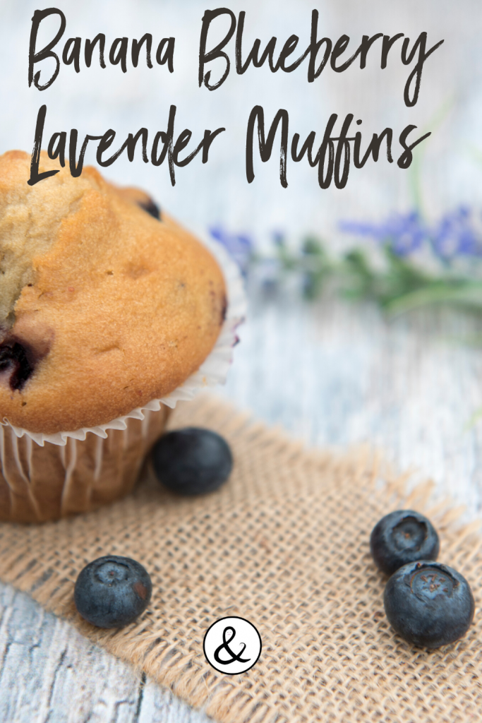Banana Blueberry Lavender Muffins
