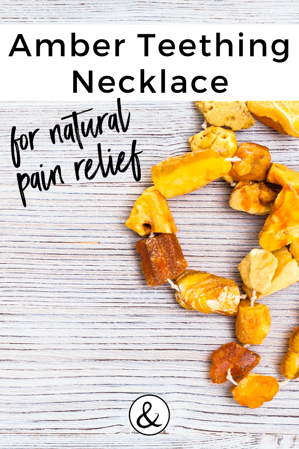 Amber Teething Necklace for Natural Pain Relief