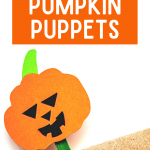 Popsicle Stick Pumpkin Puppets