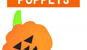 Popsicle Stick Pumpkin Puppets