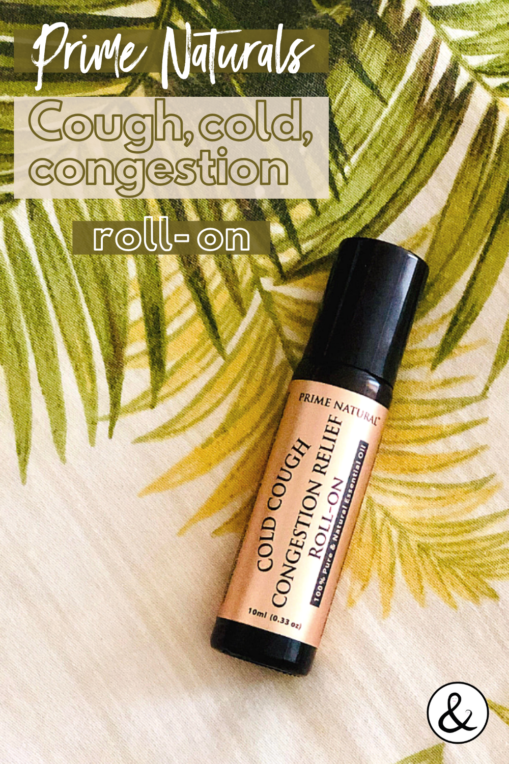 Prime Naturals Cold Cough Congestion Relief Roll-On