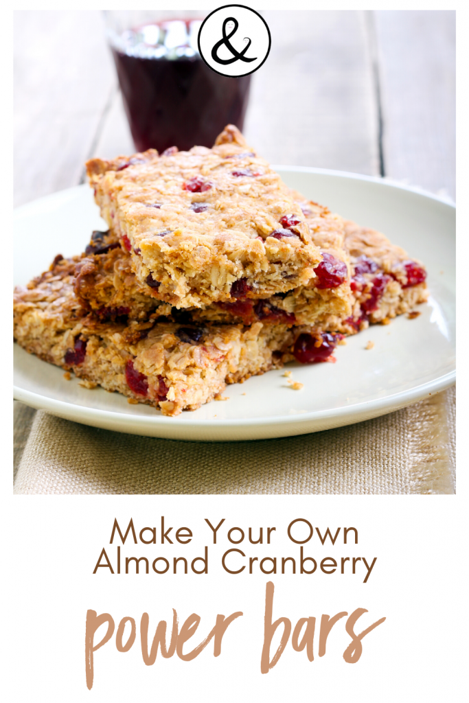 Homemade Almond Cranberry Power Bars